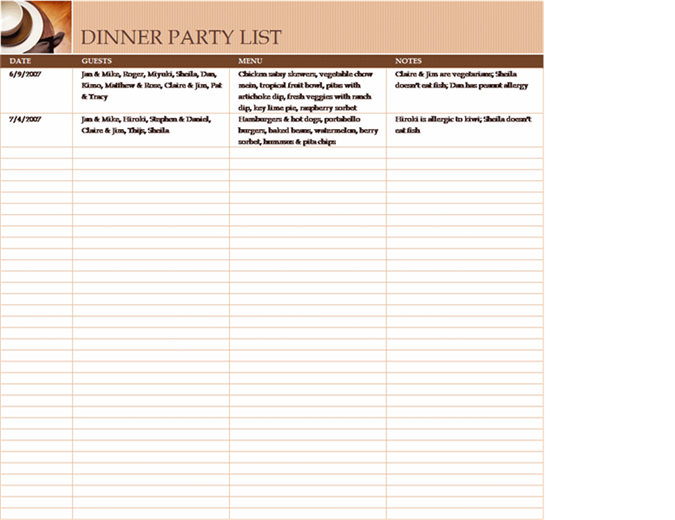 party list