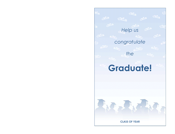 Graduation party invitation (Graduation Party design, half-fold)