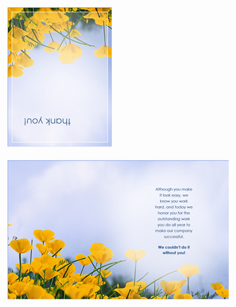 Thank you card for administrative professional (quarter-fold)