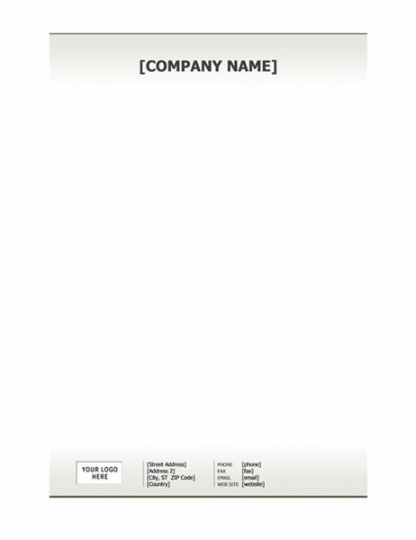 Business letterhead stationery (Simple design)