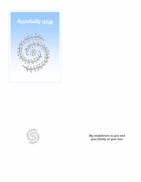 Sympathy card (quarter-fold)
