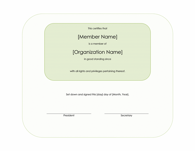 honorary membership certificate template