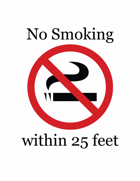 No Smoking sign (color)