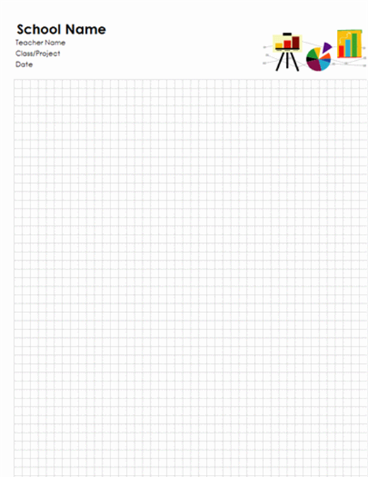 School graph paper Office Templates – Grid Paper Template