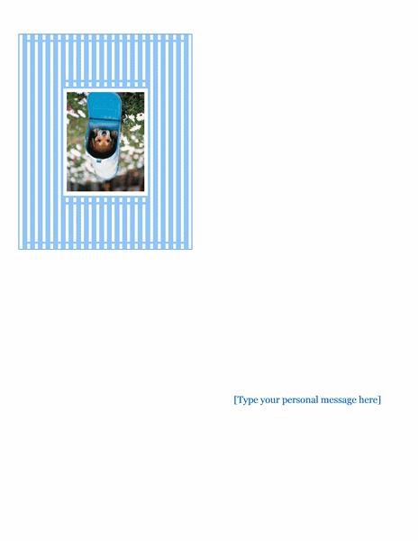 Photo greeting card (quarter-fold)