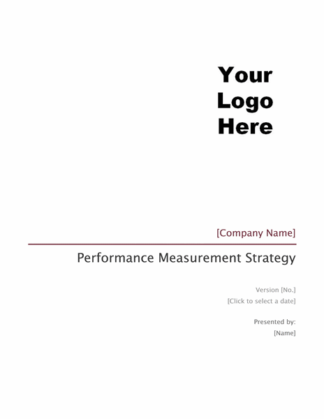 Performance measurement strategy