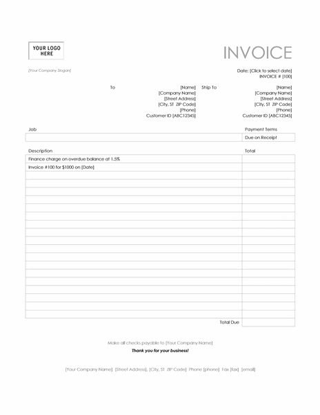 Finance charge (Simple Lines design)