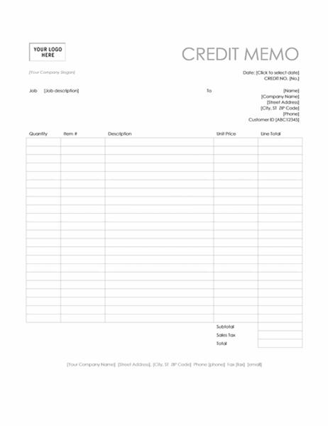 Credit memo Simple Lines design Office Templates – Credit Memo Template