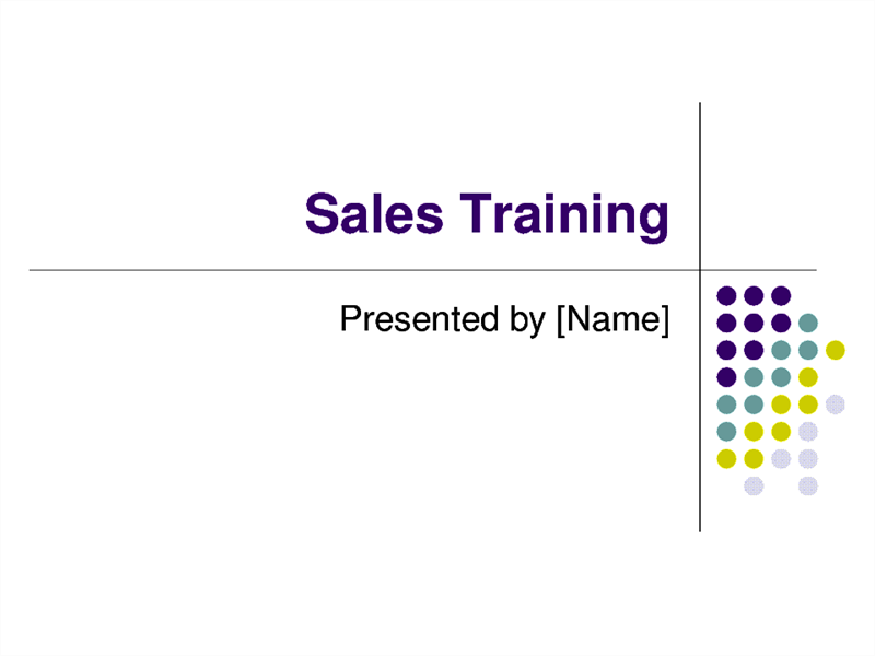 Sales training slides