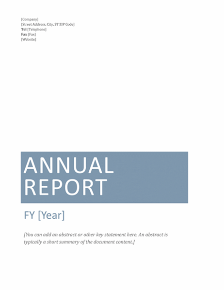 Annual report Timeless design Office Templates