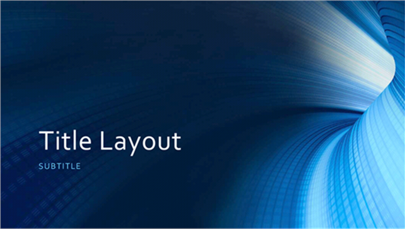 business digital blue tunnel presentation (widescreen) - office, Powerpoint templates