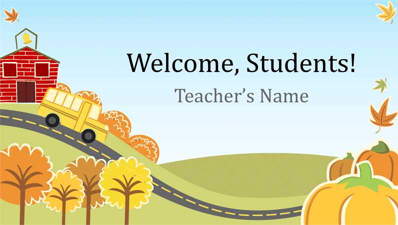 back to elementary school presentation widescreen  office templates, Powerpoint