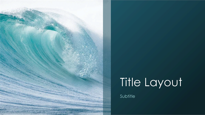 Ocean waves nature presentation (widescreen) - Office Templates