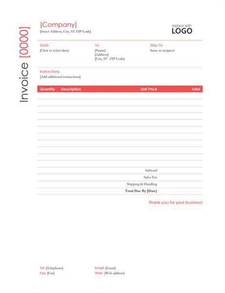 Invoices office invoice red design saigontimesfo