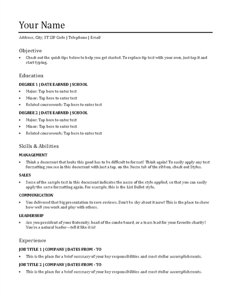 Functional Resume  What Is A Functional Resume