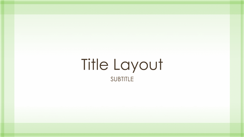 sheer green border design presentation (widescreen) - office templates, Modern powerpoint