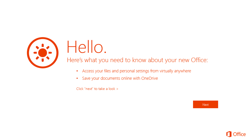Office Professional Plus Getting Started