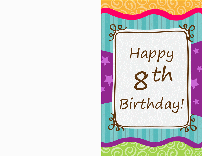 Birthday card stars and stripes kids halffold Office Templates – Picture Birthday Card