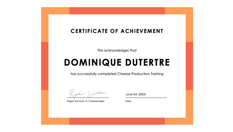 certificate of achievement blue