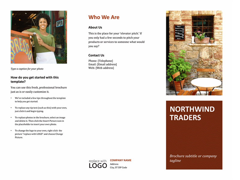 Business Tri Fold Brochure  Microsoft Trifold Template