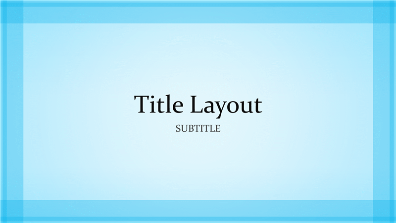 sheer blue border design presentation (widescreen) - office templates, Modern powerpoint