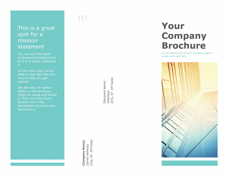 Attractive Brochure (Business)  Microsoft Word Tri Fold Brochure Template
