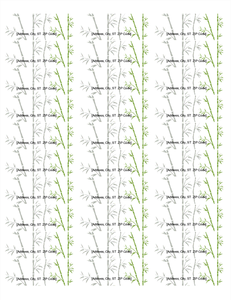return address labels  bamboo  30 per page  works with
