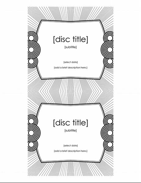 cd case insert template
