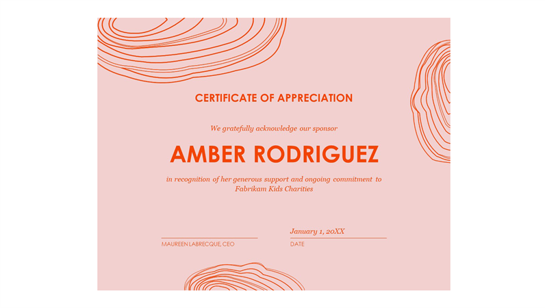 Certificate of appreciation to sponsor - Office Templates