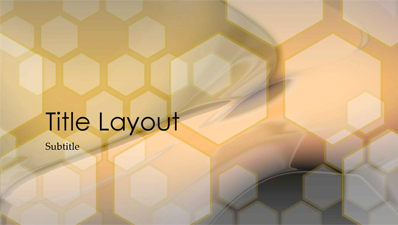 Hexagonal design slides