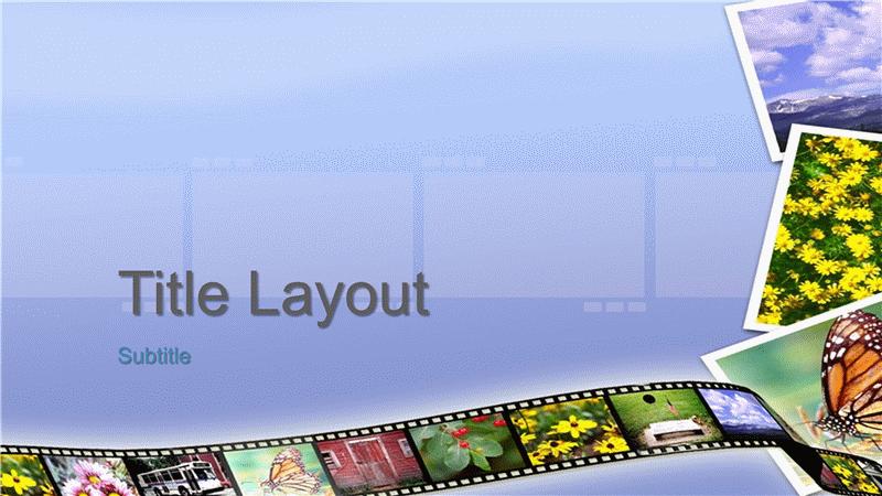 Photo journal design slides