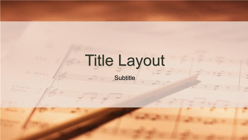 Sheet music design slides