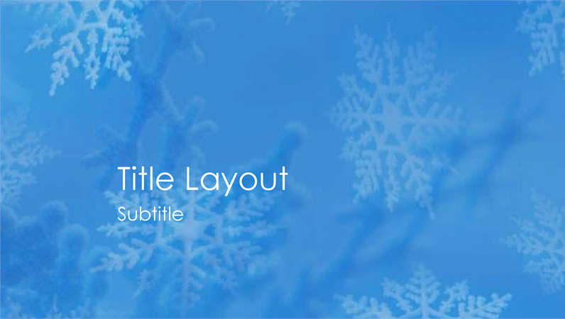 Snowflakes design slides