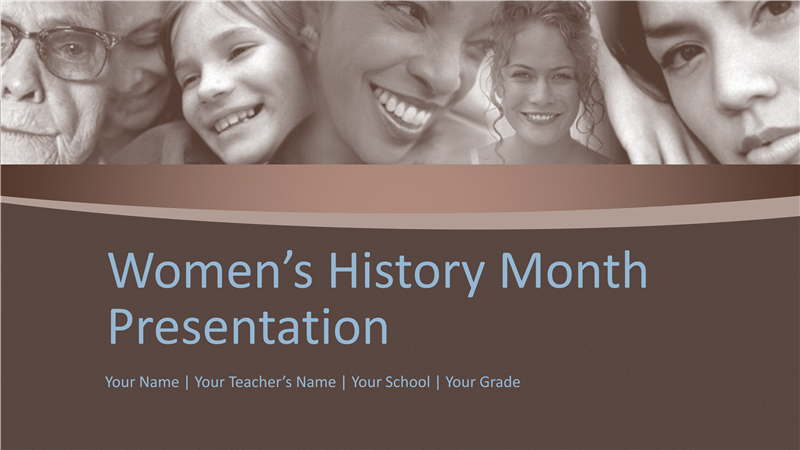 women's history month presentation - office templates, Modern powerpoint