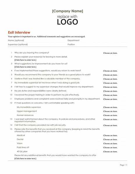 Employee exit interview office templates employee exit interview pronofoot35fo Images
