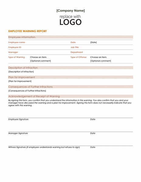 Employee warning notice - Office Templates