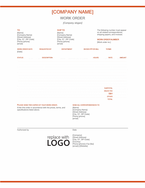 Work Order Office Templates - Free template for invoices cheapest online gun store