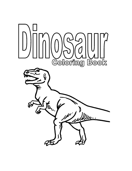 Dinosaur coloring book (6 pages)