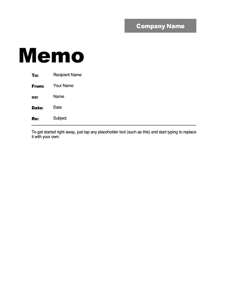 Interoffice memo professional design for Safety memo template