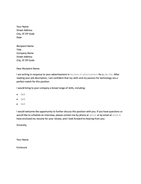 samples cover letter for resumes
