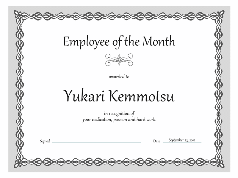 Certificates Office – Award Word Template