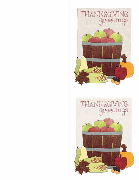 Thanksgiving cards (2 per page)