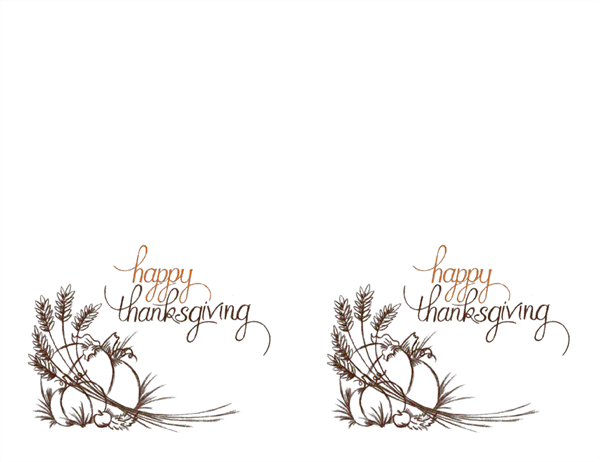 Cards for Free thanksgiving templates for word