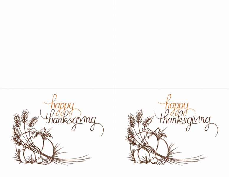 Thanksgiving invitations 2 per page for avery 3268 for Free thanksgiving templates for word