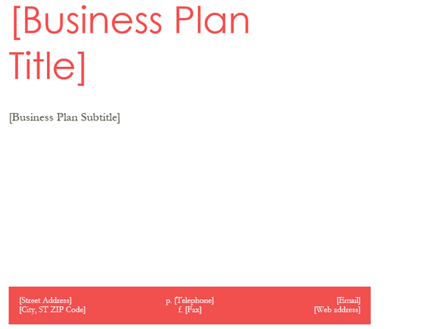 Business Plan Office Templates - Generic business plan template