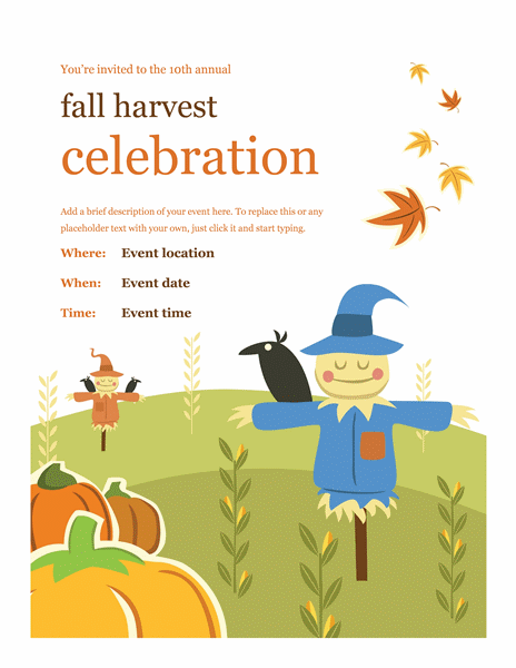 Fall Flyer Office Templates
