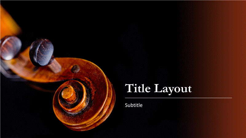 music score presentation (treble clef design) - office templates, Powerpoint templates