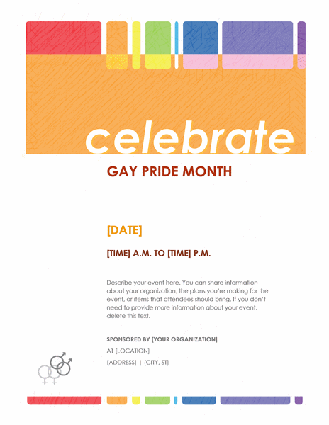Gay Pride Month flyer