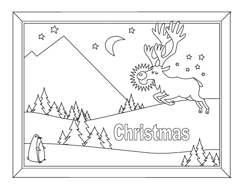 Christmas coloring book (8 pages)