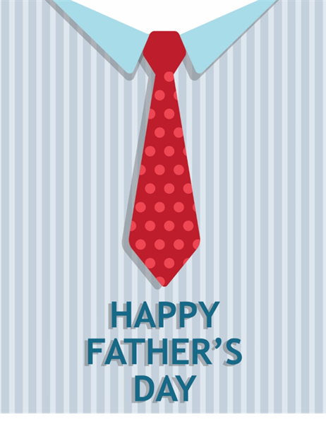 Tie Father's Day card (quarter-fold)